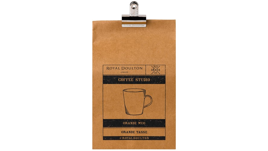 Royal Doulton Coffee Studio Grande Mug - Grey