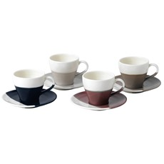 Royal Doulton Coffee Studio Set of 4 Espresso Cups & Saucers