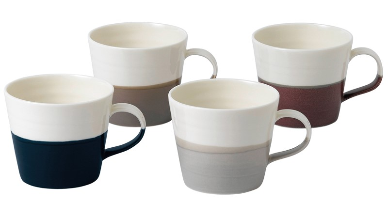 Royal Doulton Coffee Studio Set of 4 Small Mugs