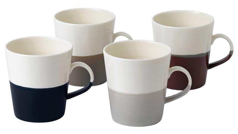 Royal Doulton Coffee Studio Set of 4 Grande Mugs
