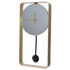 Mirrored Clock - Gold