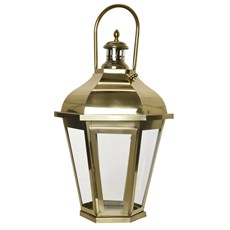 Gold Hexagon Lantern