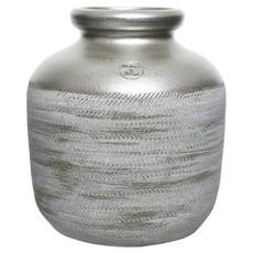 Small Terracotta Vase - Metallic