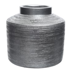 Terracotta Vase - Metallic Stone Grey