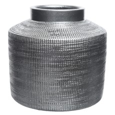 Small Terracotta Vase - Metallic Stone Grey