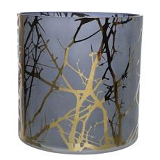 Blue Hurricane Glass Tea Light Holder