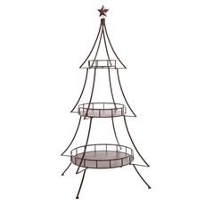 Metal Christmas Tree - Red
