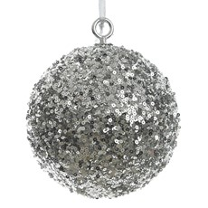Large Sequin Bauble - Silver