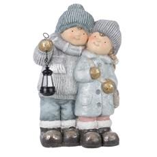 Winter Children With Lantern