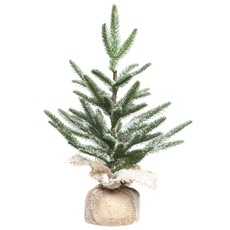 Christmas Tree in Jute Bag With Ice