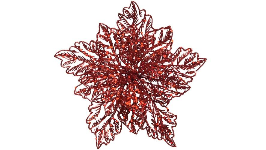 Red Poinsettia Clip