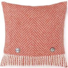 Herringbone Cushion Orange