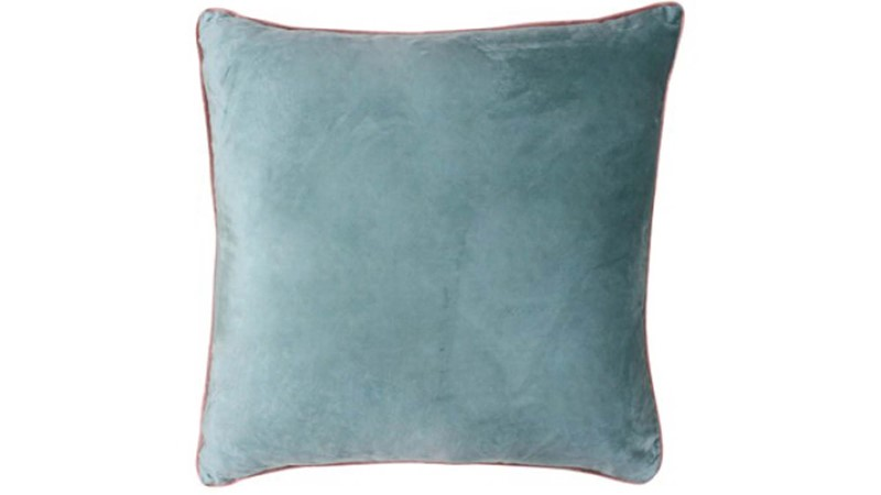 Meridian Square Cushion - Mineral & Blush