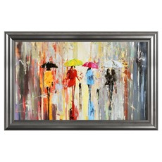 Out In The Rain Framed Print