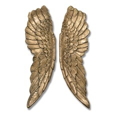 Angel Wings Wall Art - Gold