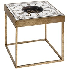Square Mirrored Moving Mechanism Clock Table