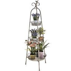 Distressed French Foldable Shelving Unit