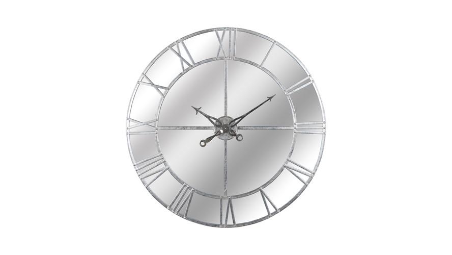 Mirrored Silver Foil Wall Clock
