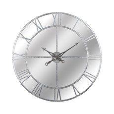 Mirrored Silver Foil Wall Clock