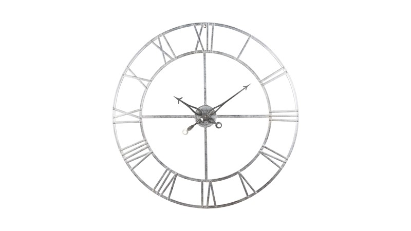 Skeleton Silver Foil Wall Clock
