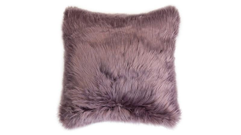 Snug Faux Fur Cushion Amethyst