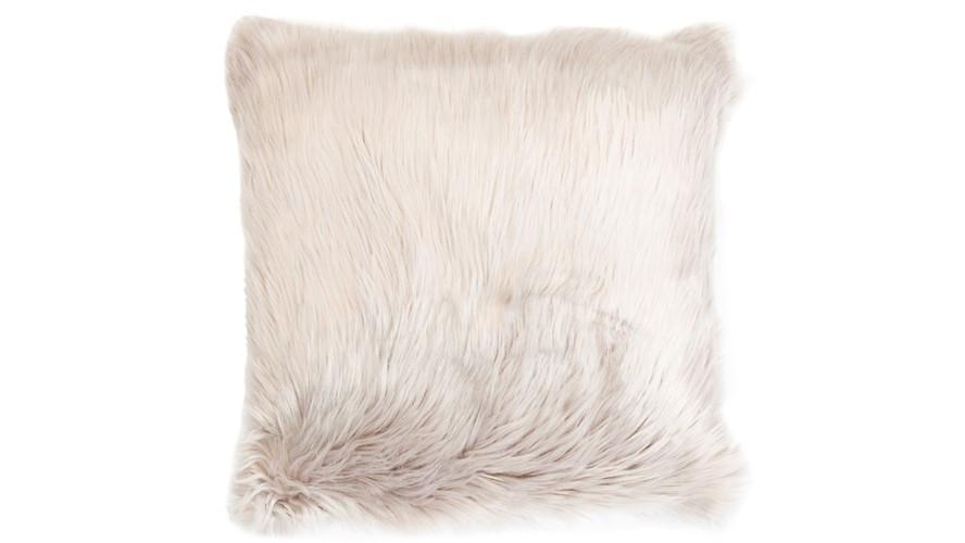 Snug Faux Fur Cushion Taupe