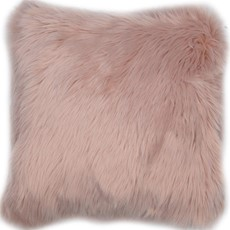 Snug Faux Fur Cushion - Pink