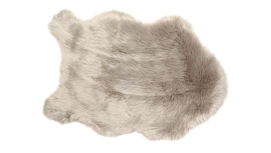 Snug Faux Fur Rug Taupe