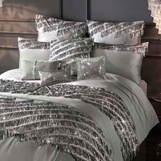 Kylie Minogue Eliza Square Pillowcase - Pewter