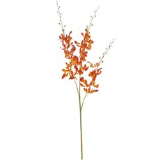 Silk Brazilian Dancing Orchid Stem - Orange