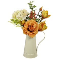 Orange Arrangement Magnolia & Berry in Jug