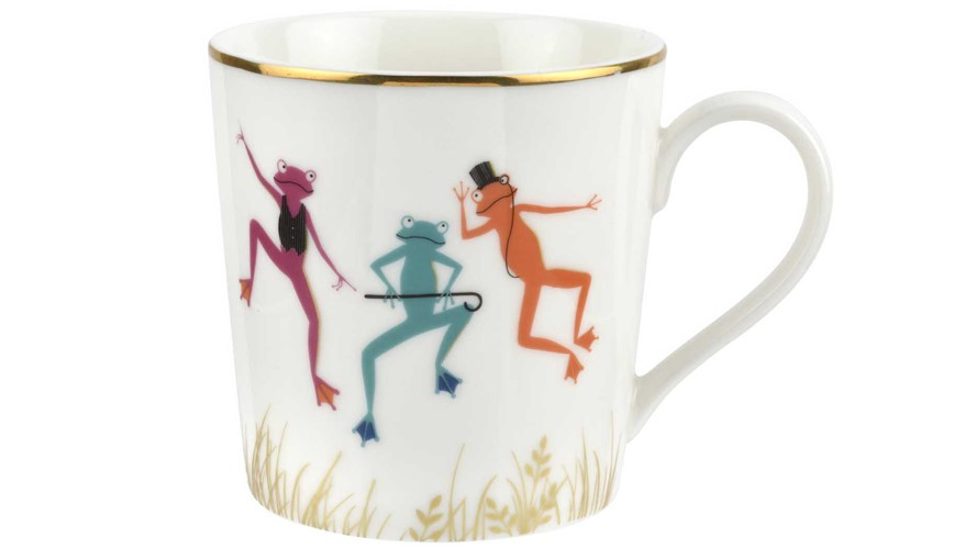 Sara Miller Mighty Fine Frogs Mug