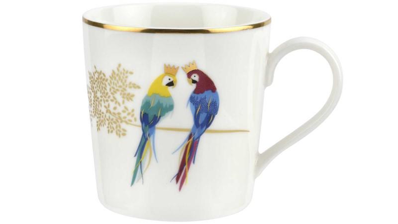 Sara Miller Posing Parrots Mug