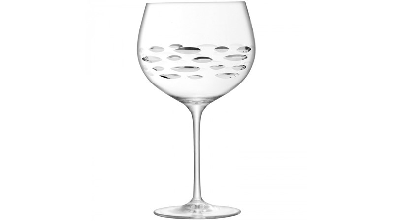 Shoal Cut Balloon Gin Glass