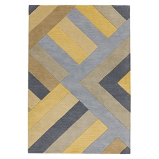Reef Rug - Big Zig Ochre Grey