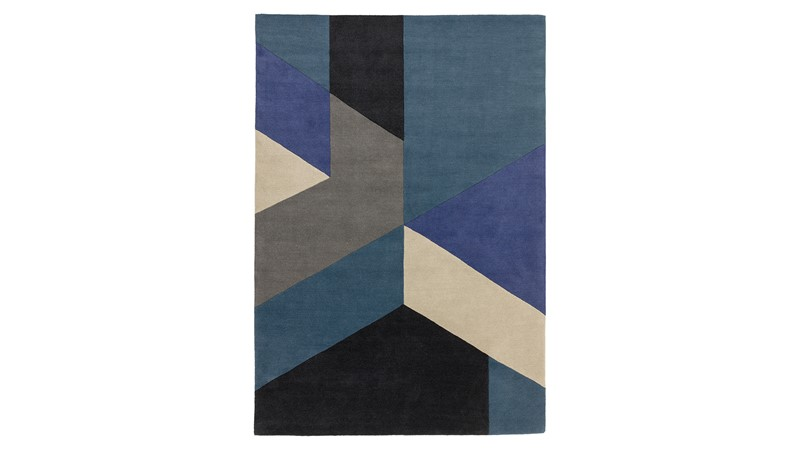 Reef Rug - Big Geo Blue