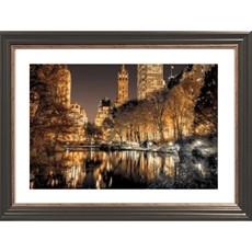 Central Park Glow Framed Print