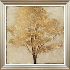 Gold Umber Framed Print