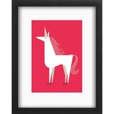 Unicorn Black Box Framed Print