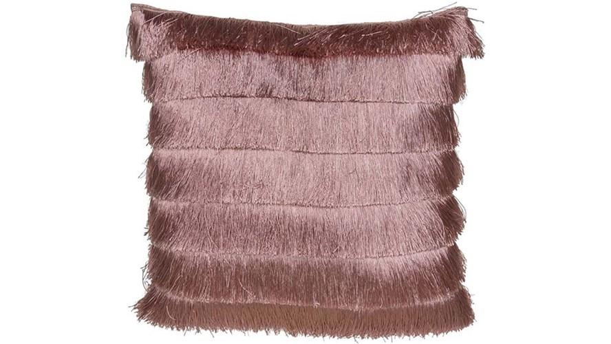 Gatsby Fringe Cushion Pink