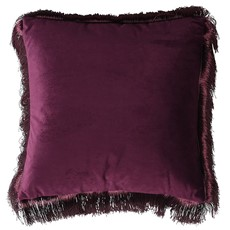 Edged Square Cushion - Purple