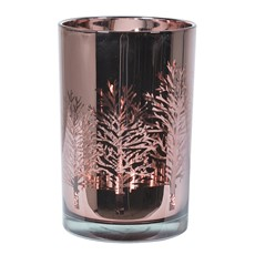 Metallic Rose Trees Candle Holder