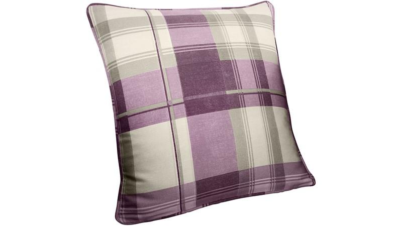 Balmoral Check Cushion - Heather