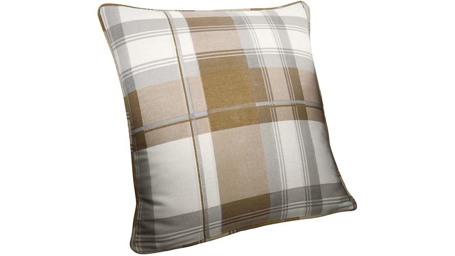 Balmoral Check Cushion - Natural