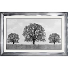 Chrome Winter Tree Framed Print