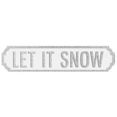Let It Snow Plaque