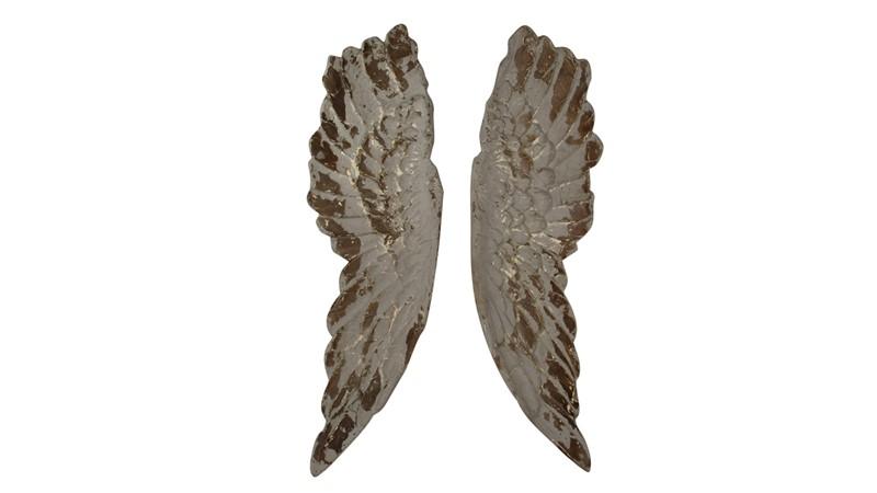 Angel Wings Wall Art - Grey