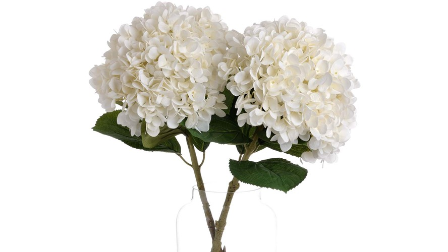 Oversized Hydrangea Stem - White