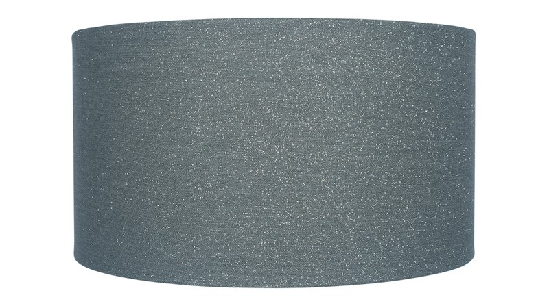 Glitter Cylinder Faux Linen Shade - Steel