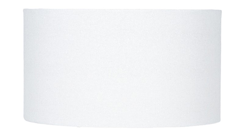 Glitter Cylinder Faux Linen Shade - White